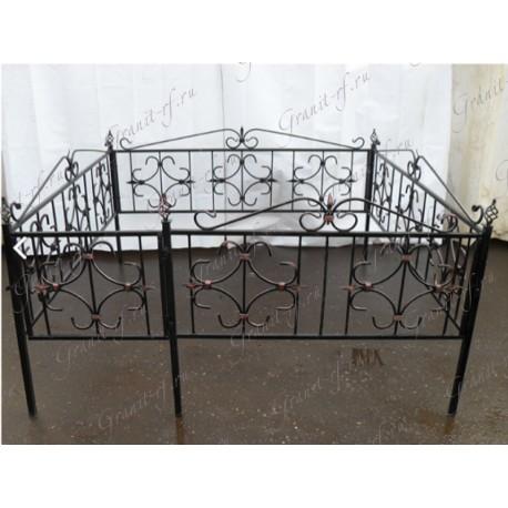 Кованая ограда Лист