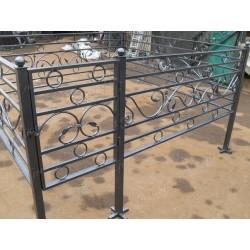 Кованая ограда Большие Кольца